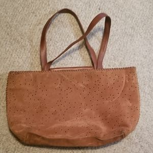 Kenneth Cole NY Brown Suede Tote